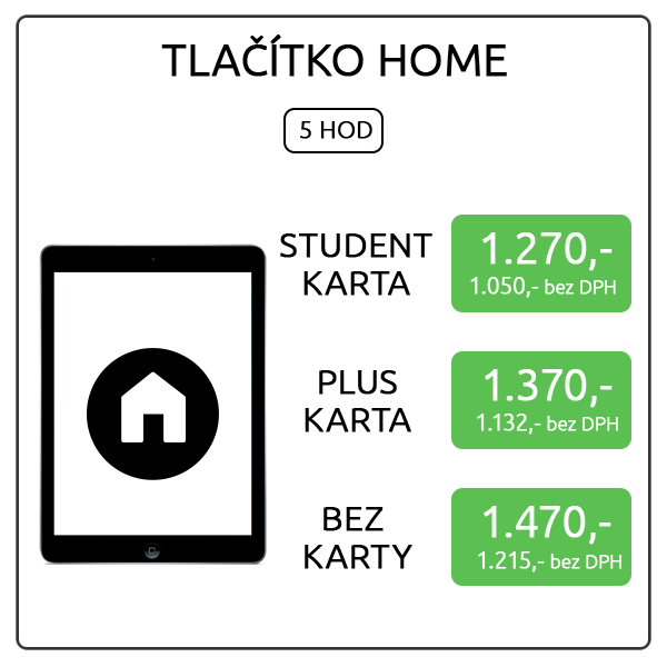 iPad Air - tlačítko home