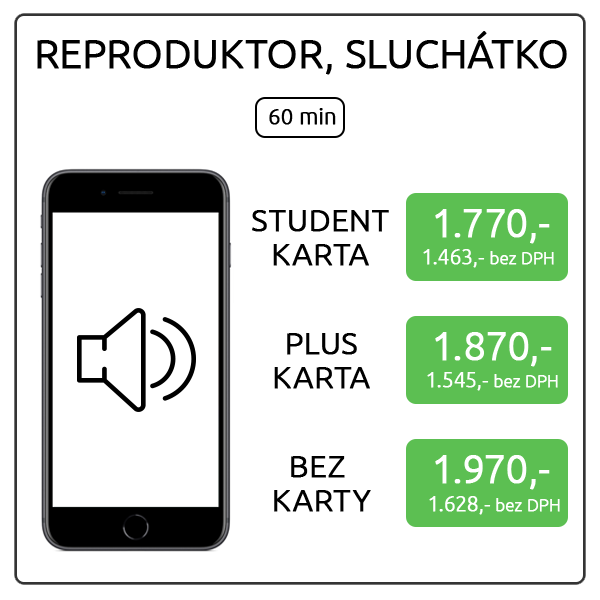 iPhone 8 Plus - reproduktor, sluchátko