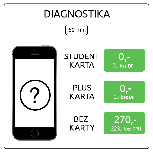 iPhone SE - diagnostika